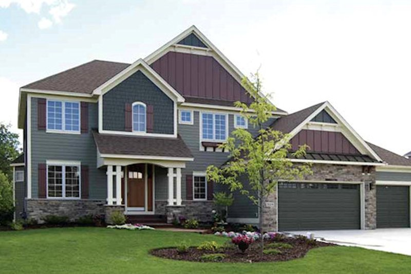 Craftsman Exterior - Front Elevation Plan #320-491