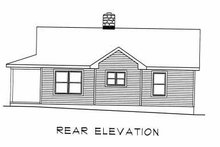 House Plan Design - Country Exterior - Rear Elevation Plan #22-123