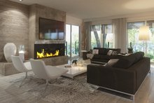 House Design - Contemporary Interior - Family Room Plan #23-2648