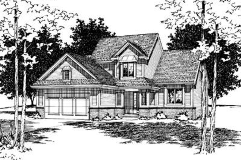 Traditional Exterior - Front Elevation Plan #20-673 - Houseplans.com