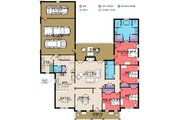 Traditional Style House Plan - 4 Beds 2.5 Baths 2711 Sq/Ft Plan #63-345 Floor Plan - Main Floor Plan