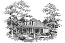 Dream House Plan - Southern Exterior - Front Elevation Plan #37-155