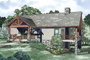 Craftsman Exterior - Front Elevation Plan #17-2399