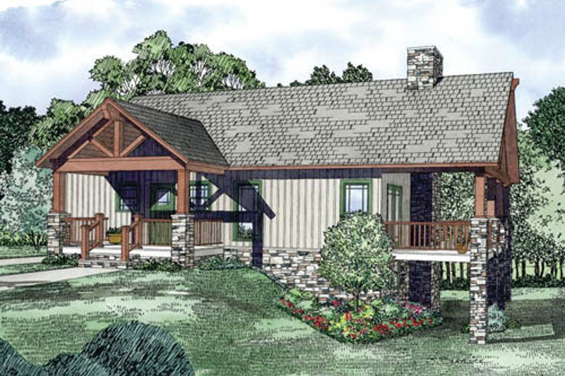 Craftsman Style House Plan - 3 Beds 2.5 Baths 2733 Sq/Ft Plan #17-2399