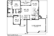 Ranch Style House Plan - 2 Beds 2 Baths 1709 Sq/Ft Plan #70-1208 Floor Plan - Main Floor Plan