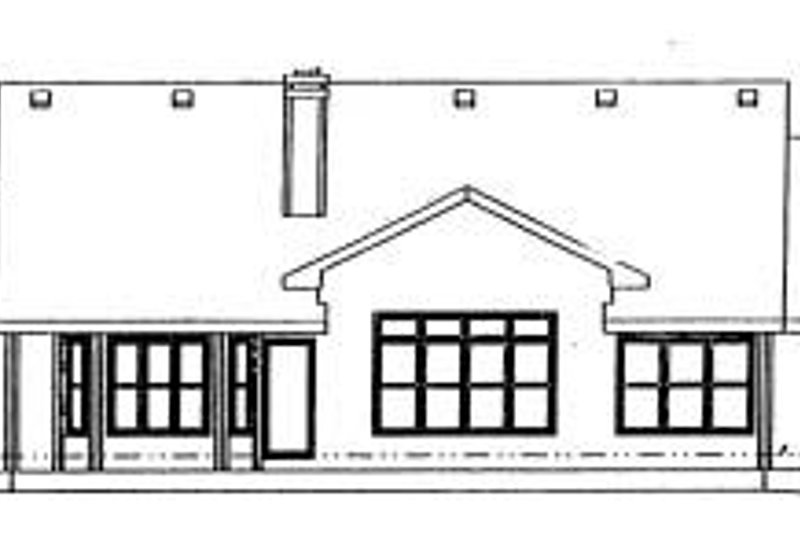 Traditional Exterior - Rear Elevation Plan #20-702 - Houseplans.com