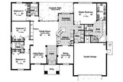 Mediterranean Style House Plan - 4 Beds 3 Baths 2221 Sq/Ft Plan #417-213 Floor Plan - Main Floor