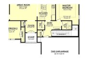 European Style House Plan - 3 Beds 2 Baths 1600 Sq/Ft Plan #430-66 Floor Plan - Other Floor Plan