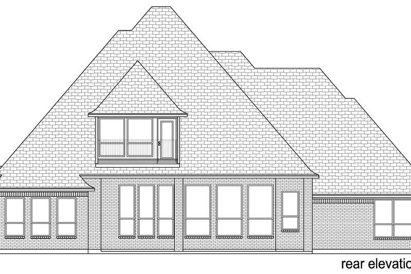 European Exterior - Rear Elevation Plan #84-602 - Houseplans.com