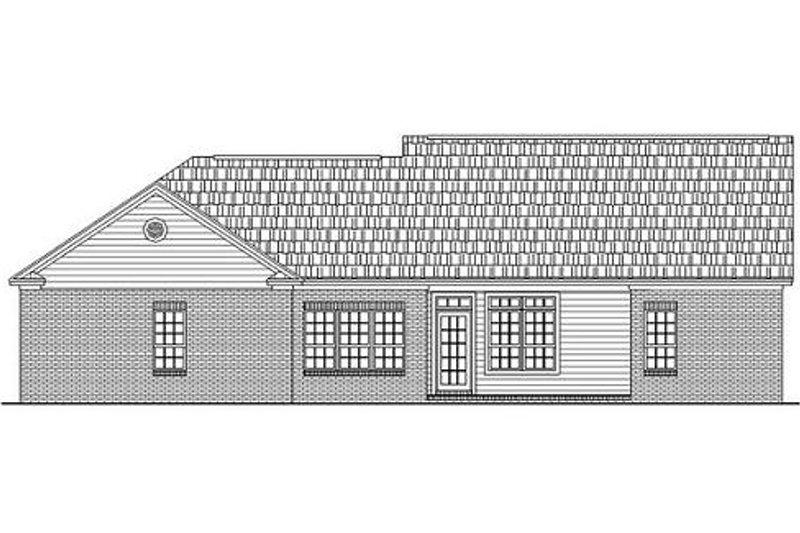 Ranch Exterior - Rear Elevation Plan #21-143 - Houseplans.com