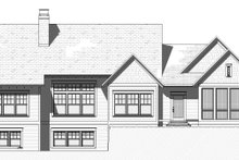 Cottage Exterior - Rear Elevation Plan #901-139