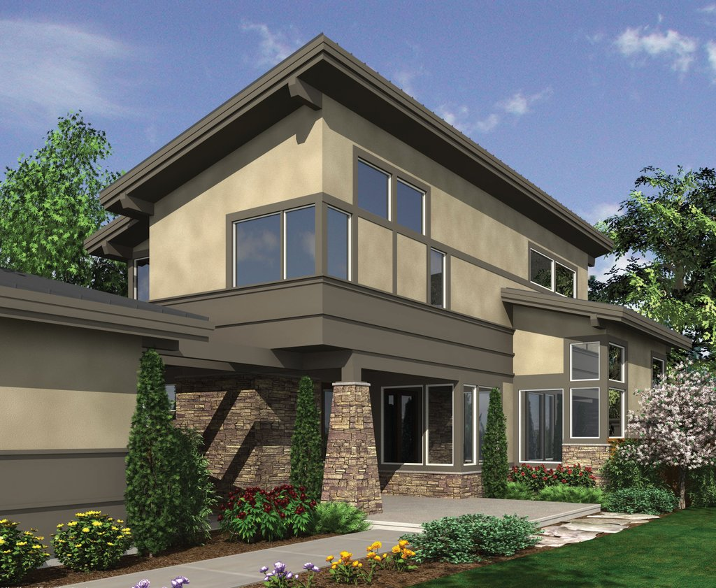 Modern style house plan 3 beds 2 5 baths 1986 sq ft plan for Modern house 48