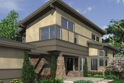 Modern Style House Plan - 3 Beds 2.5 Baths 1986 Sq/Ft Plan #48-574 Exterior - Rear Elevation