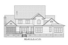 House Plan Design - Colonial Exterior - Rear Elevation Plan #1054-78