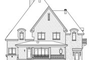 European Style House Plan - 4 Beds 2.5 Baths 3321 Sq/Ft Plan #23-583 Exterior - Rear Elevation
