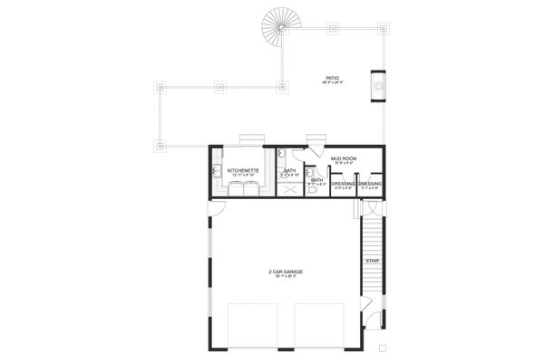 Dream House Plan - Traditional Floor Plan - Main Floor Plan #1060-76