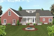 Country Style House Plan - 3 Beds 3 Baths 1992 Sq/Ft Plan #56-582 Exterior - Rear Elevation