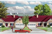 Traditional Style House Plan - 2 Beds 2 Baths 3646 Sq/Ft Plan #26-115 Exterior - Front Elevation