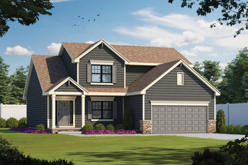 Traditional Style House Plan - 4 Beds 3 Baths 2154 Sq/Ft Plan #20-2394