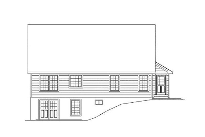 Ranch Exterior - Rear Elevation Plan #57-252 - Houseplans.com