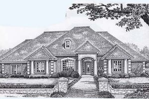 Traditional Exterior - Front Elevation Plan #310-853