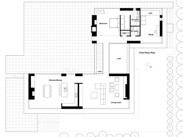 Modern Floor Plan - Upper Floor Plan Plan #520-5