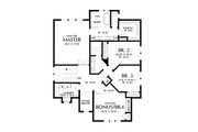 Contemporary Style House Plan - 4 Beds 2.5 Baths 2577 Sq/Ft Plan #48-1035 Floor Plan - Upper Floor