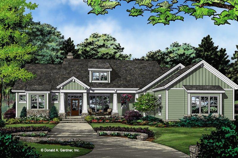 House Plan Design - Craftsman Exterior - Front Elevation Plan #929-1036