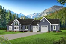Architectural House Design - Country Exterior - Front Elevation Plan #932-170