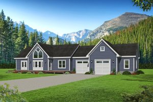 Country Exterior - Front Elevation Plan #932-170