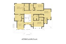 Contemporary Floor Plan - Upper Floor Plan Plan #1066-63
