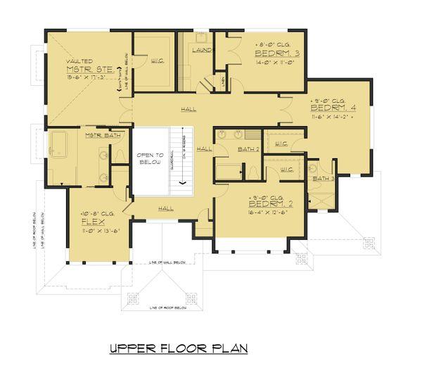 Contemporary Floor Plan - Upper Floor Plan #1066-63