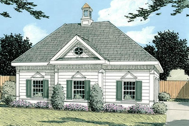Colonial Style House Plan - 0 Beds 0 Baths 964 Sq/Ft Plan #75-208 Exterior - Front Elevation