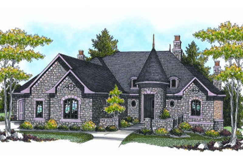 European Exterior - Front Elevation Plan #70-961