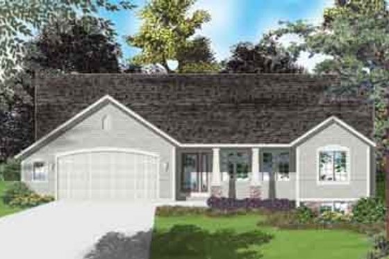 Ranch Exterior - Front Elevation Plan #49-151