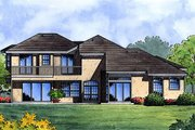 Mediterranean Style House Plan - 4 Beds 3 Baths 2887 Sq/Ft Plan #417-346 Exterior - Rear Elevation