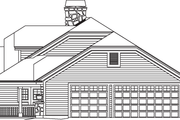 Contemporary Style House Plan - 3 Beds 2.5 Baths 1915 Sq/Ft Plan #57-583 Exterior - Other Elevation