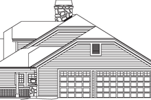Dream House Plan - Contemporary Exterior - Other Elevation Plan #57-583
