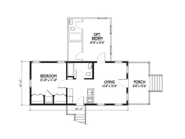 Cottage Floor Plan - Main Floor Plan Plan #514-20