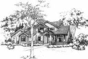 Modern Style House Plan - 3 Beds 2.5 Baths 2057 Sq/Ft Plan #78-208 Exterior - Front Elevation