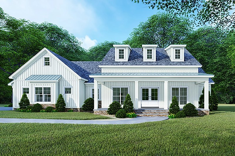 Country Exterior - Front Elevation Plan #923-122