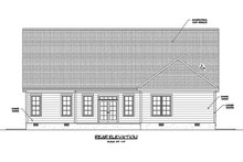 Home Plan - Ranch Exterior - Rear Elevation Plan #1071-21