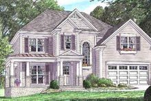 House Plan Design - Traditional Exterior - Front Elevation Plan #34-156