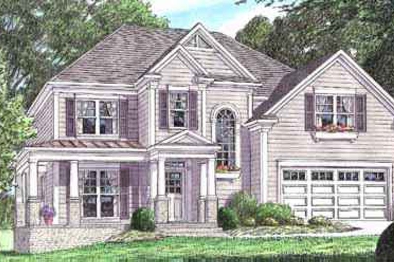 Traditional Exterior - Front Elevation Plan #34-156