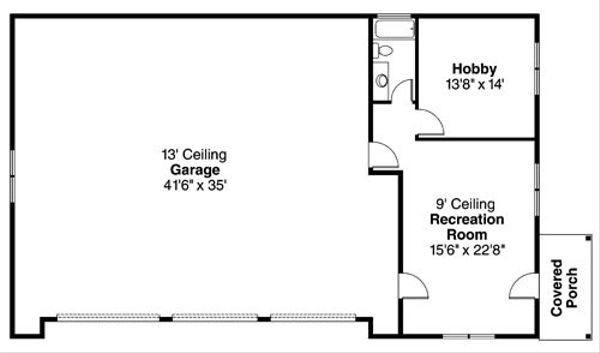 Craftsman Floor Plan - Main Floor Plan Plan #124-796