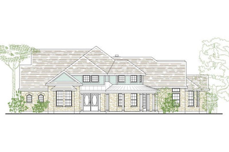 Dream House Plan - Traditional Exterior - Front Elevation Plan #80-150