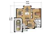 Contemporary Style House Plan - 2 Beds 1 Baths 998 Sq/Ft Plan #25-4369 Floor Plan - Main Floor