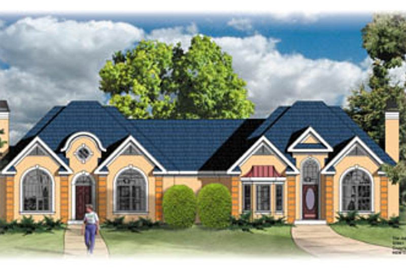 European Style House Plan - 2 Beds 2 Baths 2138 Sq/Ft Plan #26-106 Exterior - Front Elevation