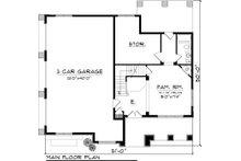Bungalow Floor Plan - Main Floor Plan Plan #70-1058