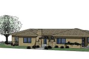 Adobe / Southwestern Style House Plan - 4 Beds 2.5 Baths 2743 Sq/Ft Plan #24-245 Exterior - Front Elevation